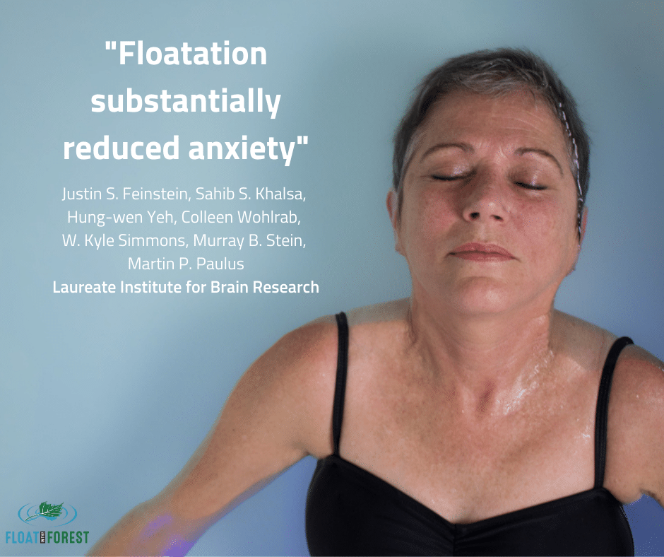 Floatation substantially reduced anxiety