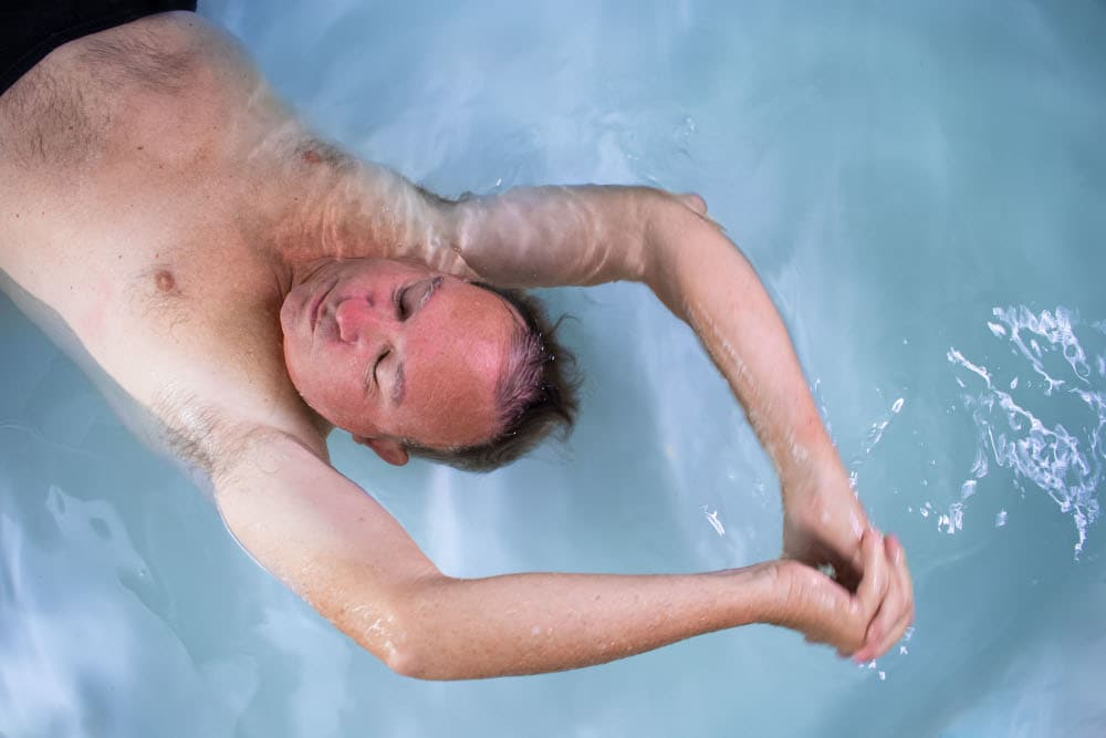 Find pain relief in floating