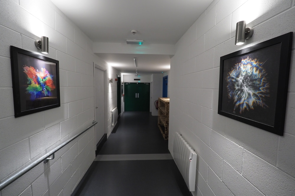The corridor at Float in the Forest